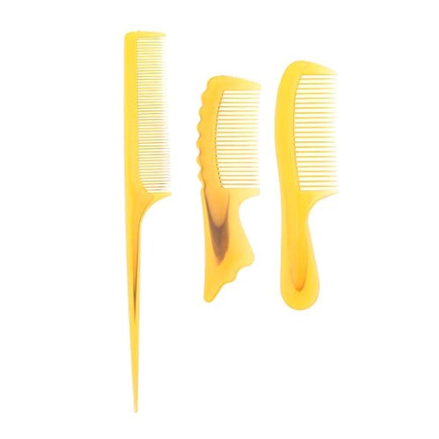 ラジエーター運動する軽蔑するToygogo 3x帯電防止理髪理髪くし耐熱もつれくし