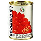ラ・プレッツィオーザ  トマト缶 (ダイス・皮なし) 400G 1缶