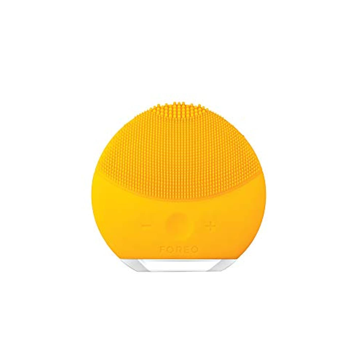 郵便局寄生虫感染するFOREO LUNA mini 2 サンフラワーイエロー 電動洗顔ブラシ シリコーン製 音波振動