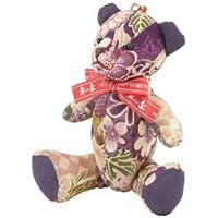 舞杏(ブアン) 京ちりめん 香熊~KOGUMA~ 紫 ローズ KOGUMA07 車用芳香剤