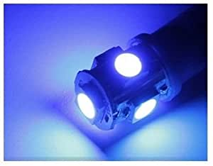 T10型 5連 LEDウェッジ球 1セット(2個入り)ブルー「101-0016」
