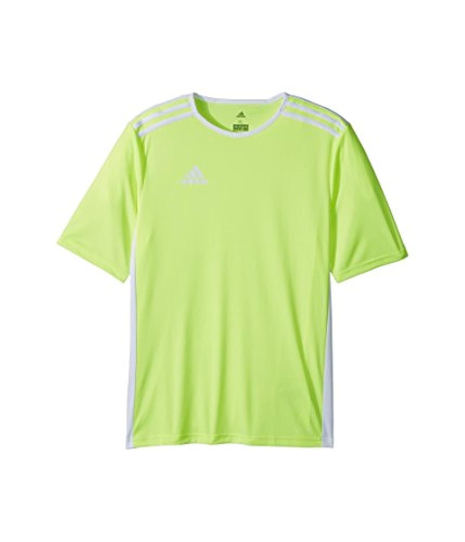 (アディダス) adidas キッズTシャツ Entrada 18 Jersey (Little Kids/Big Kids) Solar Yellow/White LG (14-16 Big Kids) (L) One...