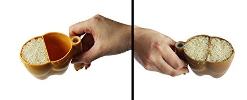八幡化成 お米専用計量カップ way-be APYUI RICE MEASURE(アピュイ ライスメジャー) RAKUDA(ラクダ) オレンジ