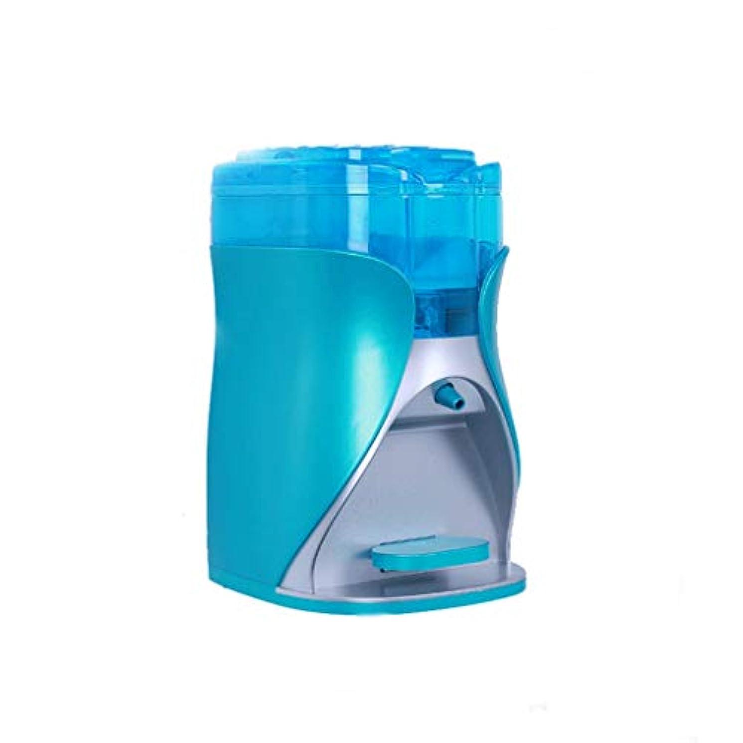ローズさまよう化学薬品せっけん 石鹸ディスペンサー壁掛け石鹸/シャンプー/ローションシャワークローム家庭用品バスルームソープディスペンサー170ミリリットル石鹸ボトル 青