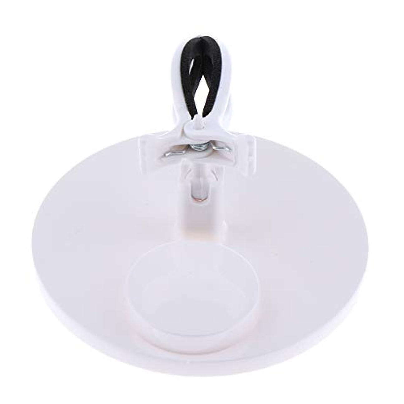 どこか天才ピケB Baosity マニキュアボトルホルダー グリップ 調整可能 ネイルアート 5色選べ - 白