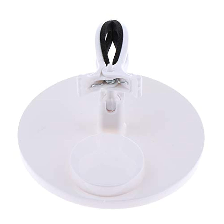 フック狂う誘導Toygogo ネイルアート マニキュア ボトルホルダー グリップ 美容 ネイルサロン 家庭 5色選べ - 白