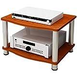 木製スピーカースタンド、パワーアンプキャビネットアンプラックアンプキャビネットオーディオシェルフ2層オーディオ機器ラックソリッドウッドメタル60(W)x47(D)x38.1(H)cm (Size : 2-layer)