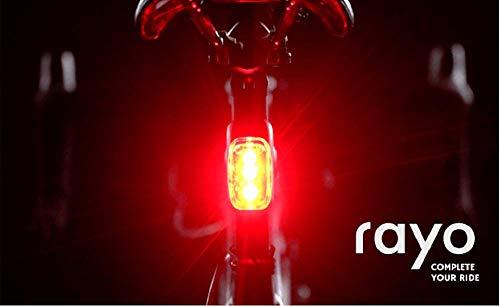 盗難防止からブレーキに反応する尾灯まで。究極の自転車用テールライトRayo (カーボンブラック)