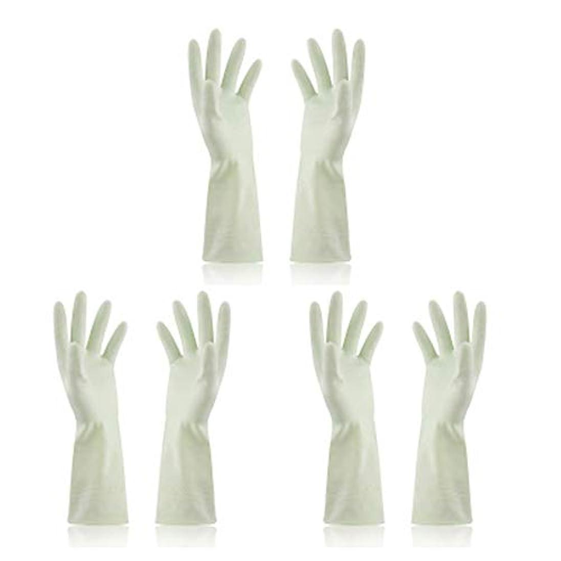 行進公平なチートBTXXYJP キッチン用手袋 手袋 食器洗い 炊事 作業 食器洗い 掃除 園芸 洗車 防水 防油 手袋 (Color : Green, Size : M)