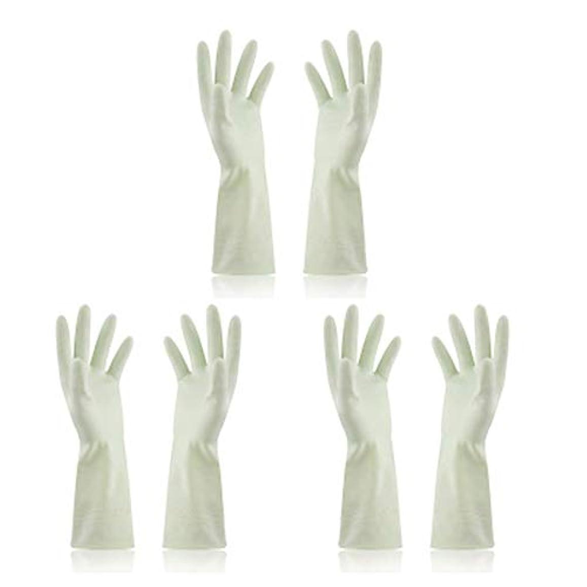 排除ラインナップ喪BTXXYJP キッチン用手袋 手袋 食器洗い 炊事 作業 食器洗い 掃除 園芸 洗車 防水 防油 手袋 (Color : Green, Size : M)