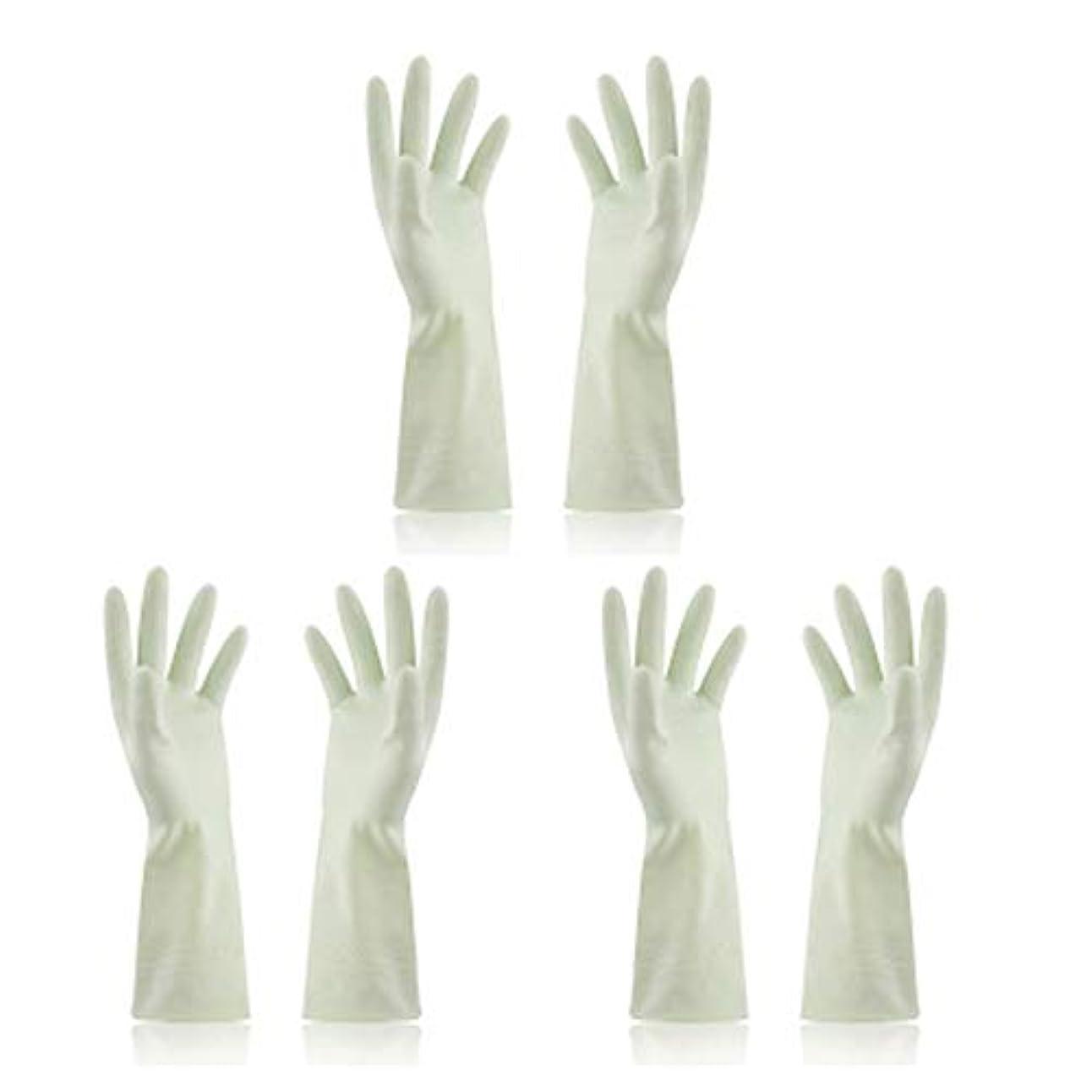 心のこもった滅多最近BTXXYJP キッチン用手袋 手袋 食器洗い 炊事 作業 食器洗い 掃除 園芸 洗車 防水 防油 手袋 (Color : Green, Size : M)