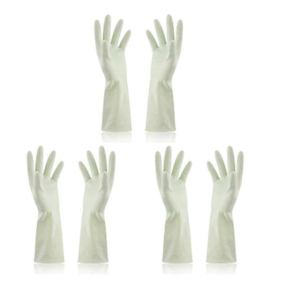 祖父母を訪問ラグあいまいなBTXXYJP キッチン用手袋 手袋 食器洗い 炊事 作業 食器洗い 掃除 園芸 洗車 防水 防油 手袋 (Color : Green, Size : M)