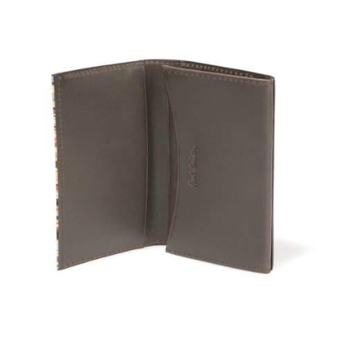 (ポールスミス) Paul Smith カードケース メンズ ブランド ストライプポイント 名刺入れ 革 ダークブラウン [並行輸入品]