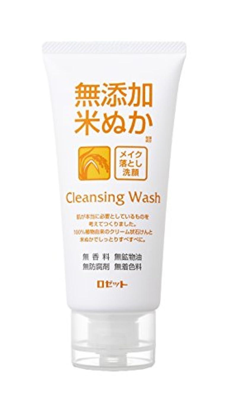 つば構成する発掘する無添加米ぬかメイク落とし洗顔フォーム120g