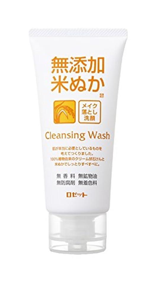 細分化するさておきアラーム無添加米ぬかメイク落とし洗顔フォーム120g