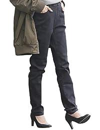 (ハッピーマリリン) デニム パンツ 大きいサイズ レディース 裏起毛 魔法の美ライン ストレッチ スキニーデニム 【448019】