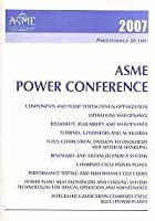 Proceedings of the ASME Power Conference 2007