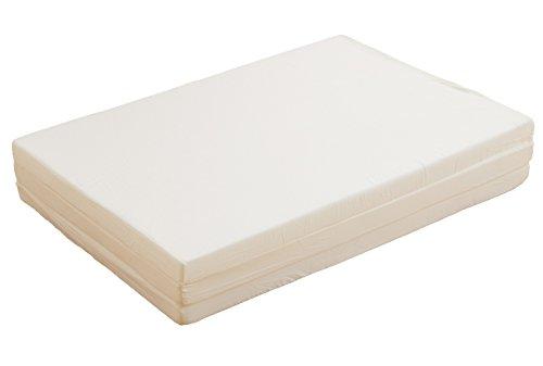 国産 三つ折り マットレス 厚さ5cm S シングル 硬さ 超硬質 190ニュートン スーパーハード ホワイト
