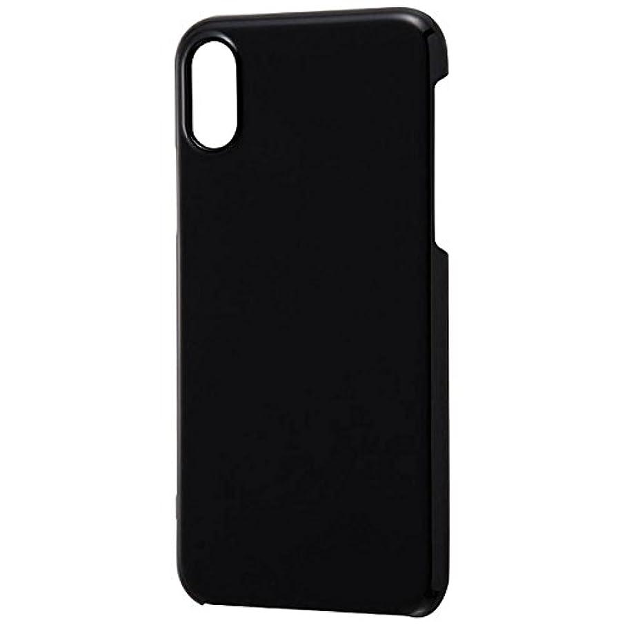 知恵カメウイルスレイ?アウト iPhone XS/X用 ハードケース 3Hコート/ブラック RT-P16C3/B