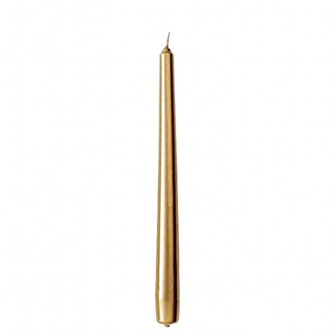 カメヤマキャンドル(kameyama candle) 10インチテーパー 「 ゴールド 」 12本入り