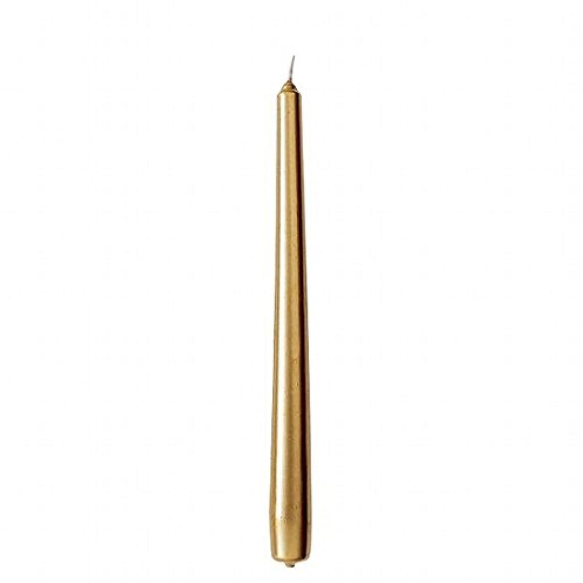世論調査未満先にカメヤマキャンドル(kameyama candle) 10インチテーパー 「 ゴールド 」 12本入り