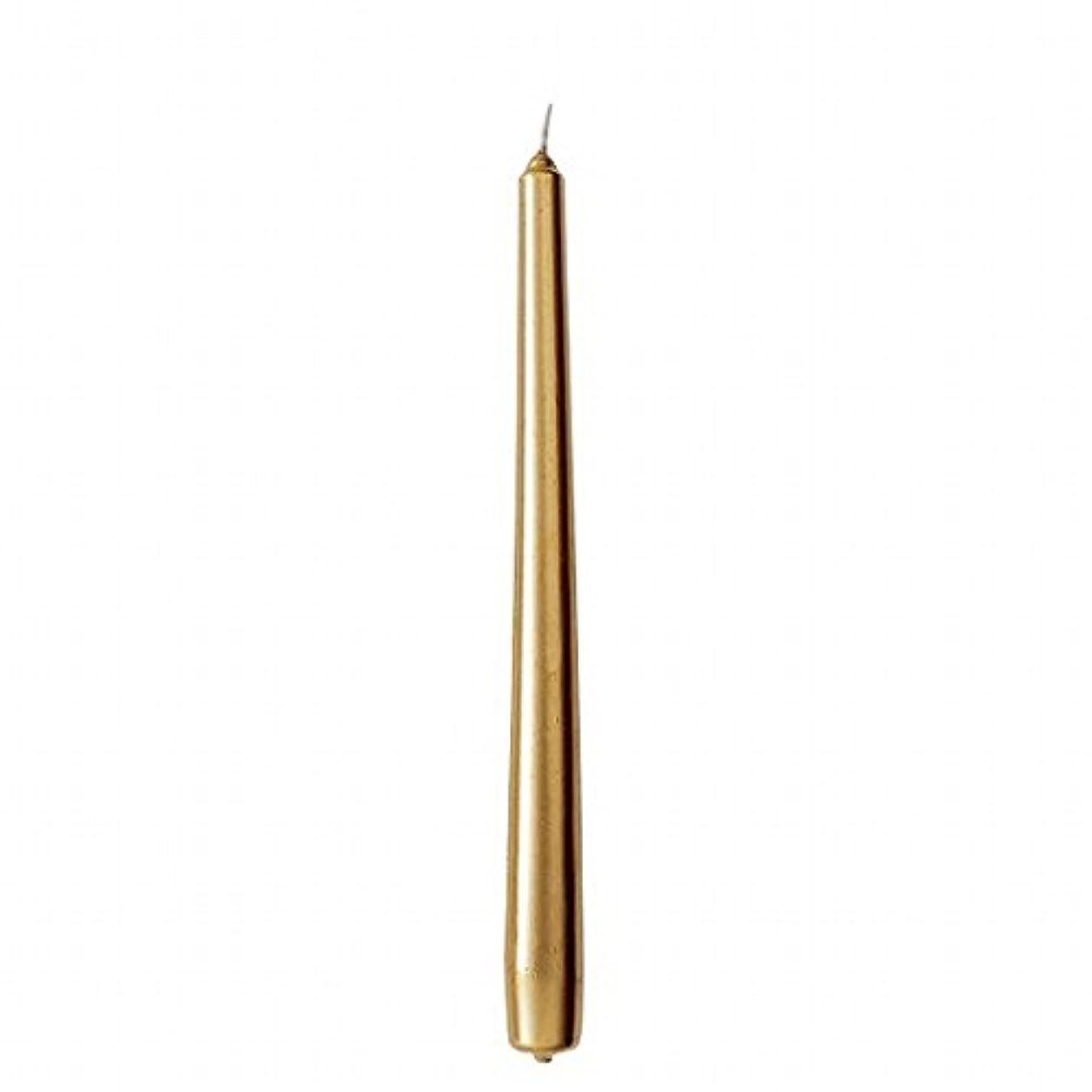 涙ブルクライマックスカメヤマキャンドル(kameyama candle) 10インチテーパー 「 ゴールド 」 12本入り