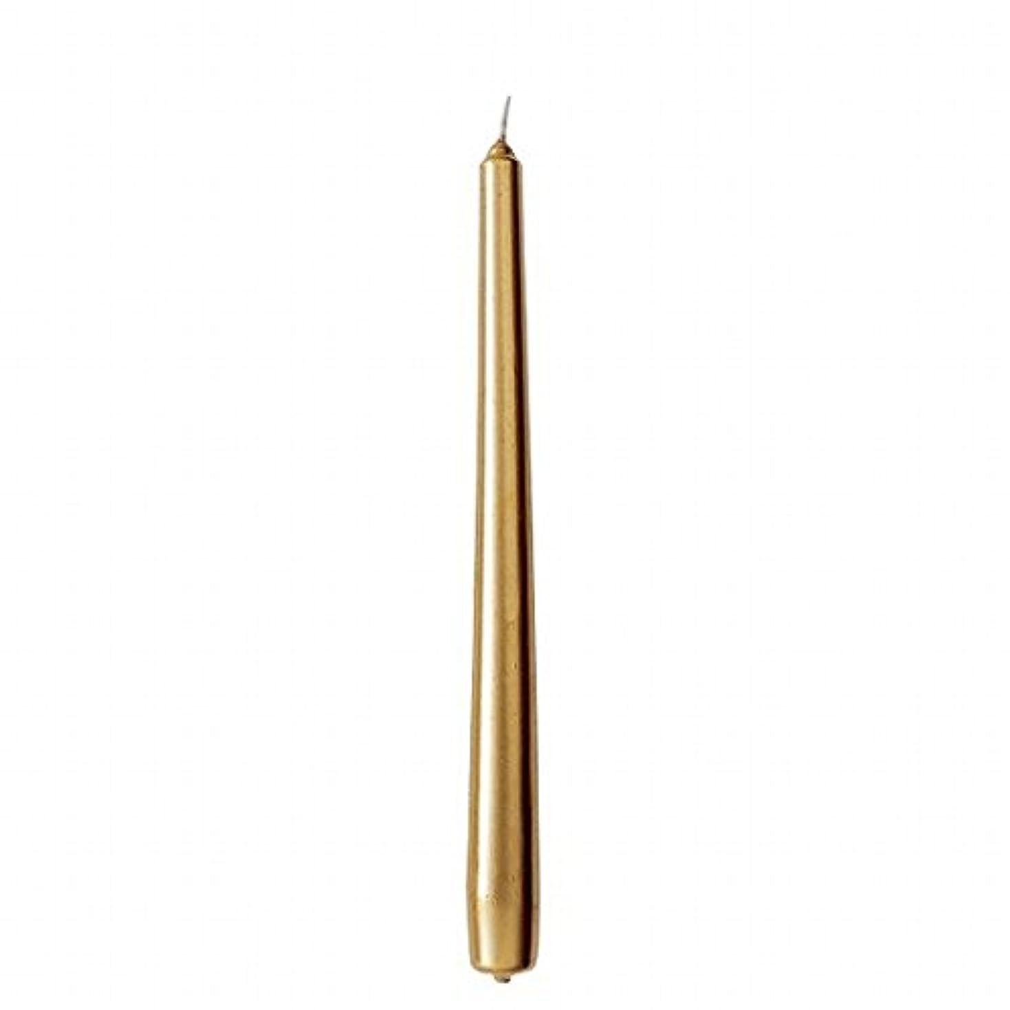 明確にマージ疾患カメヤマキャンドル(kameyama candle) 10インチテーパー 「 ゴールド 」 12本入り