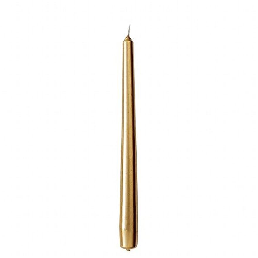 メトロポリタン元の修正カメヤマキャンドル(kameyama candle) 10インチテーパー 「 ゴールド 」 12本入り