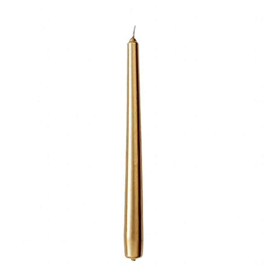 脅かすマトロンリラックスカメヤマキャンドル(kameyama candle) 10インチテーパー 「 ゴールド 」 12本入り