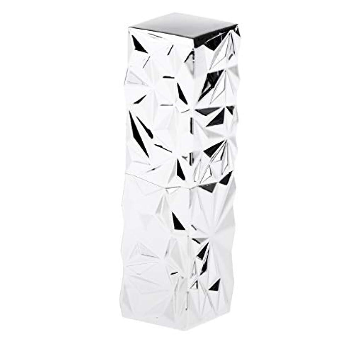 放送滑り台韓国語口紅 容器 空 リップクリームチューブ 口紅管 DIY 詰め替え式 ABS樹脂 全3色 - 銀