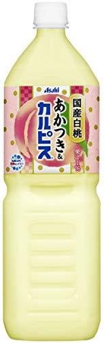 国産白桃あかつき&カルピス 1.5L×8本 PET