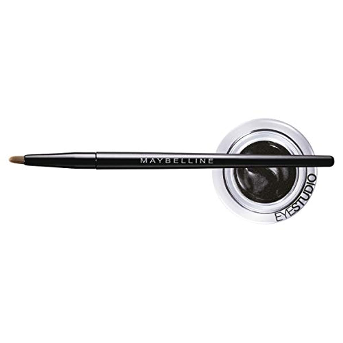 眩惑する軌道把握MAYBELLINE Eye Studio Lasting Drama Gel Eyeliner - Blackest Black 950 (並行輸入品)