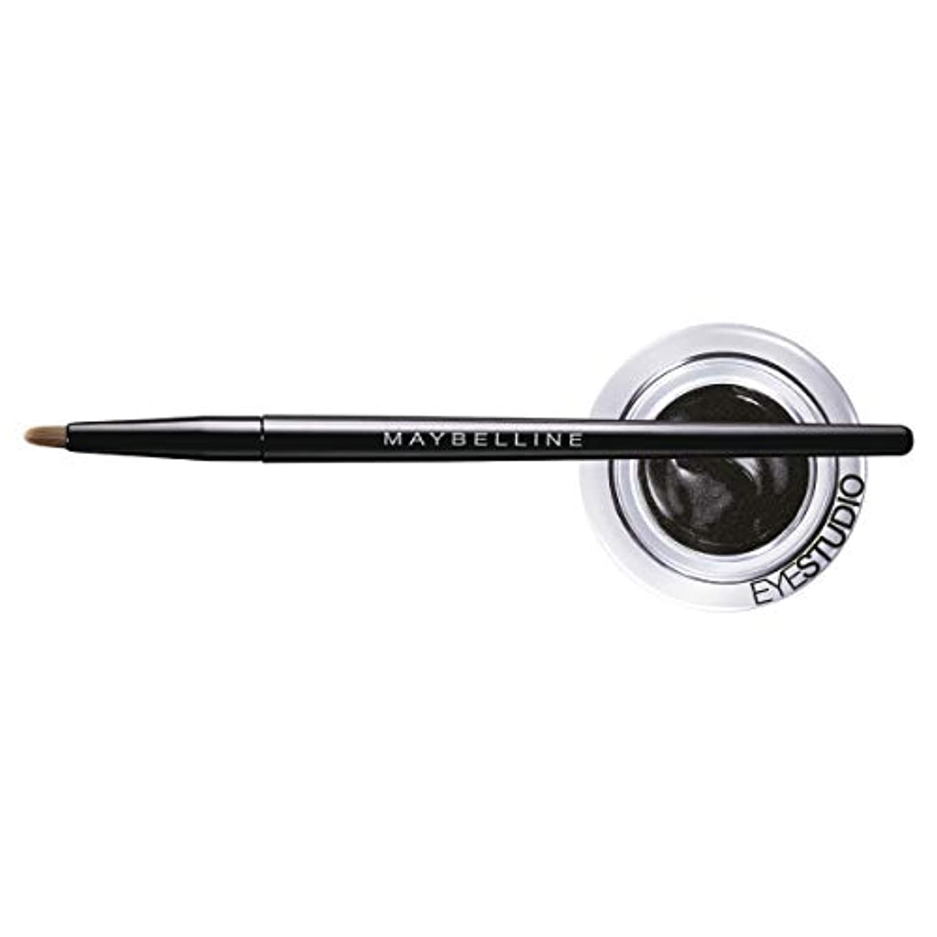 MAYBELLINE Eye Studio Lasting Drama Gel Eyeliner - Blackest Black 950 (並行輸入品)