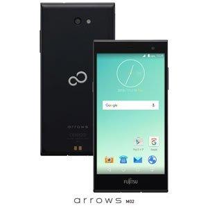 富士通 SIMフリースマートフォン arrows M02(ブラック) FARM0600D(M02クロ)