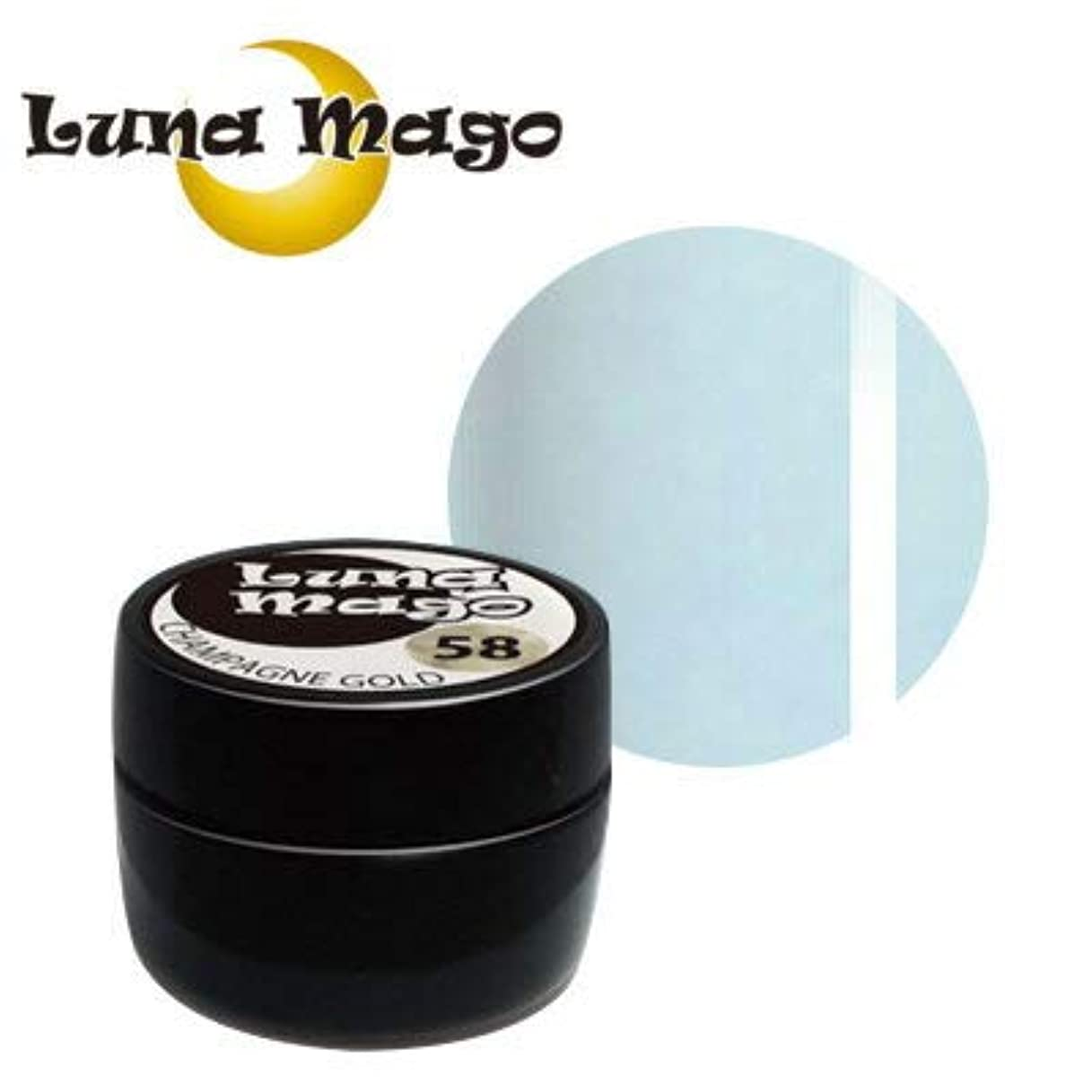 衝動みすぼらしいマガジンLuna Mago カラージェル 5g 043 ラインブルー
