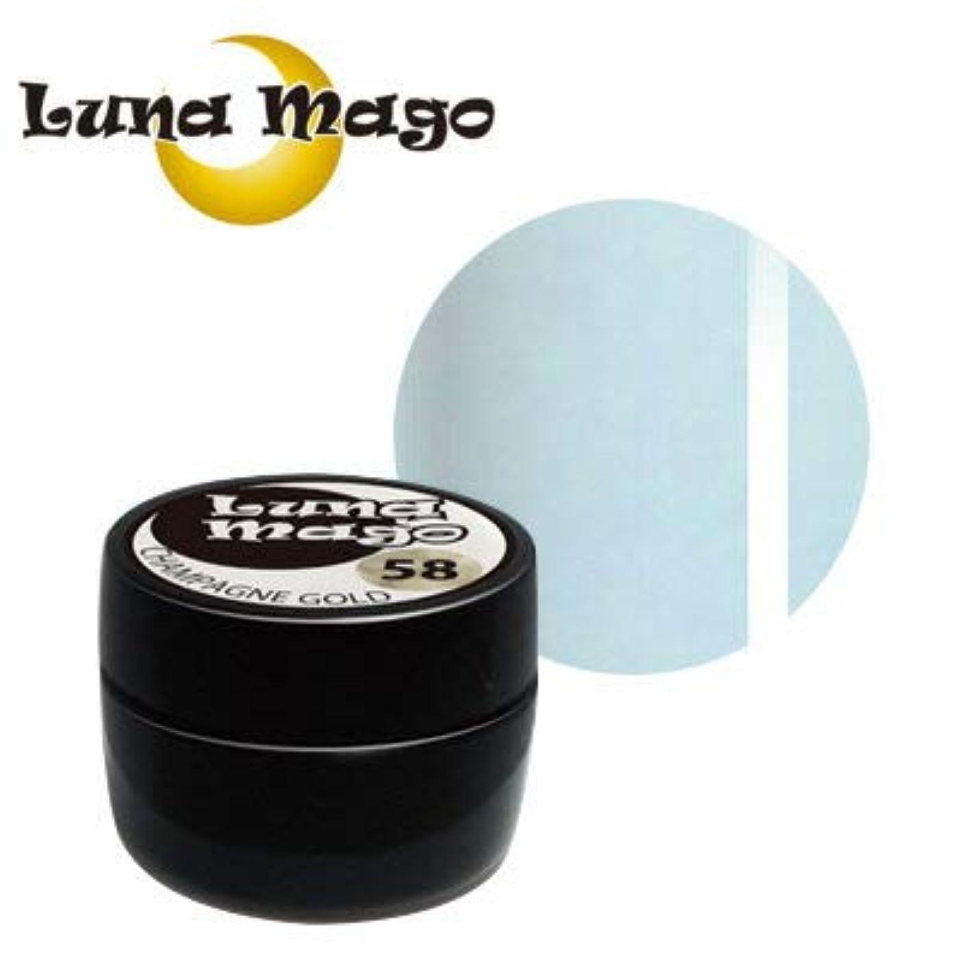 九月石膏からに変化するLuna Mago カラージェル 5g 043 ラインブルー