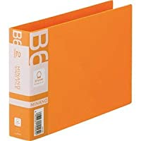 (まとめ)ライオン事務器 リングファイルMINANO(ミナノ) B6ヨコ 2穴 200枚収容 背幅35mm オレンジ RF-228M 1冊 【×20セット】