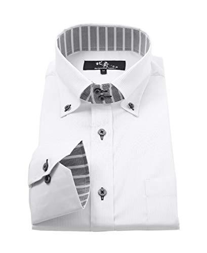 ビジネスマンサポート 北斎 ワイシャツ 長袖 ストレッチ メンズ 形態安定加工