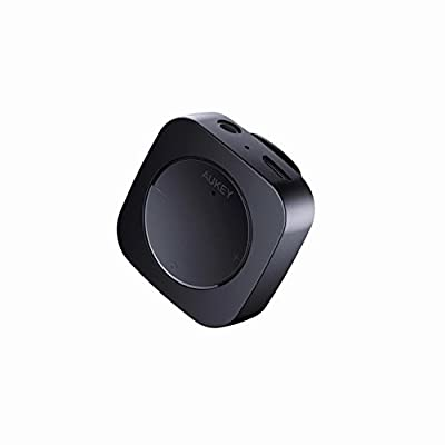 AUKEY Bluetoothレシーバー ブルートゥースオーディオレシーバー 3.5mmミニプラグ接続 クリップ付き 2年間保証 ブラック BR-C13