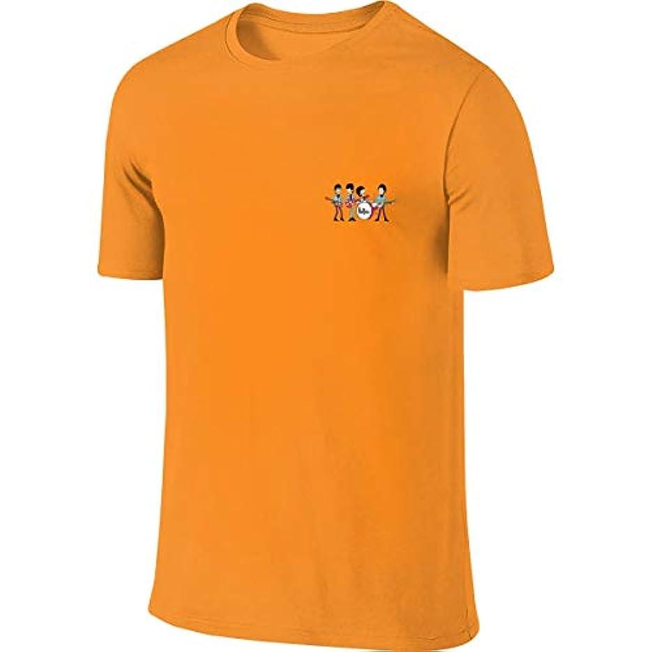 追う日帰り旅行に胚ザ?ビートルズ ロックバンド Tシャツ メンズ トップス シンプル スポーツ 半袖 無地 軽い 柔らかい 綿 薄手 夏季対応