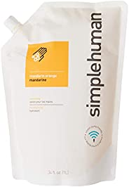 simplehuman Hand Soap, Mandarin/Orange, 1L