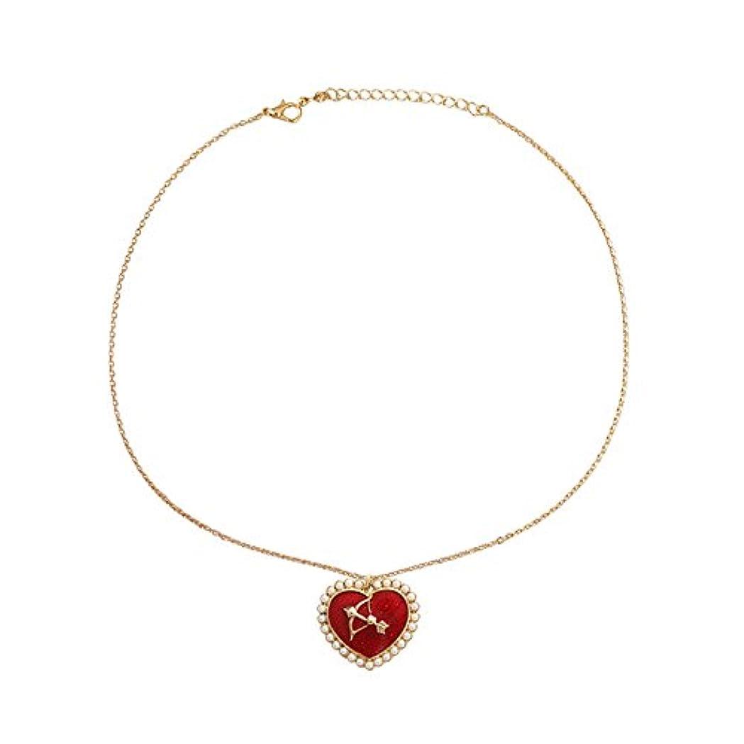 ソートパーツ印象派真珠キューピットネックレス 首のネックレス ハートのネックレス バレンタインデーのプレゼント