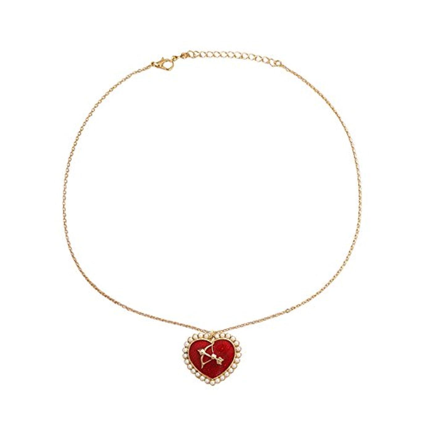 あご地獄動かす真珠キューピットネックレス 首のネックレス ハートのネックレス バレンタインデーのプレゼント