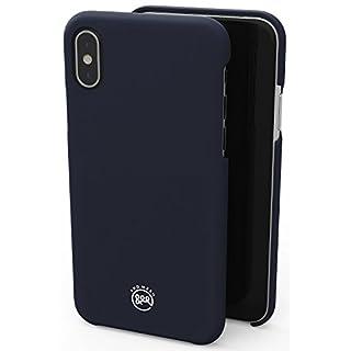 AndMesh iPhone X ケース Basic Case [Qi ワイヤレス 充電 対応 マット仕上げ] | ネイビー 紺 ミッドナイトブルー AMBSX001-MBL