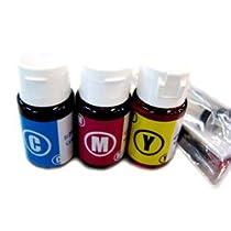 HP詰め替えインクボトル(多機種対応)カラー3色(シアン、マゼンダ、イエロー)
