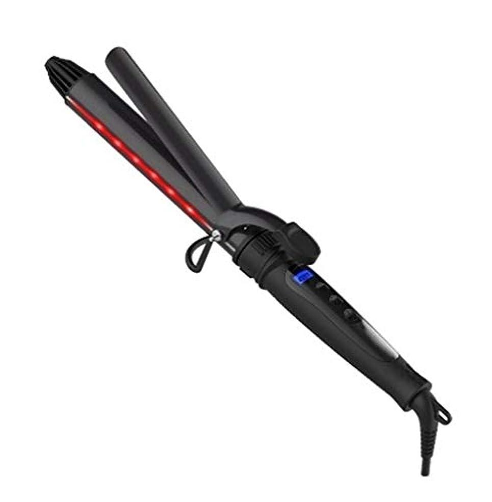 トリッキーコンテンポラリー説明するCQQ カーリングトング、多機能カーリングアイロン回転カーラーストレートボリュームデュアルユース赤外線マイナスイオンカーリングアイロンストレイテナー (Size : 25Mm)