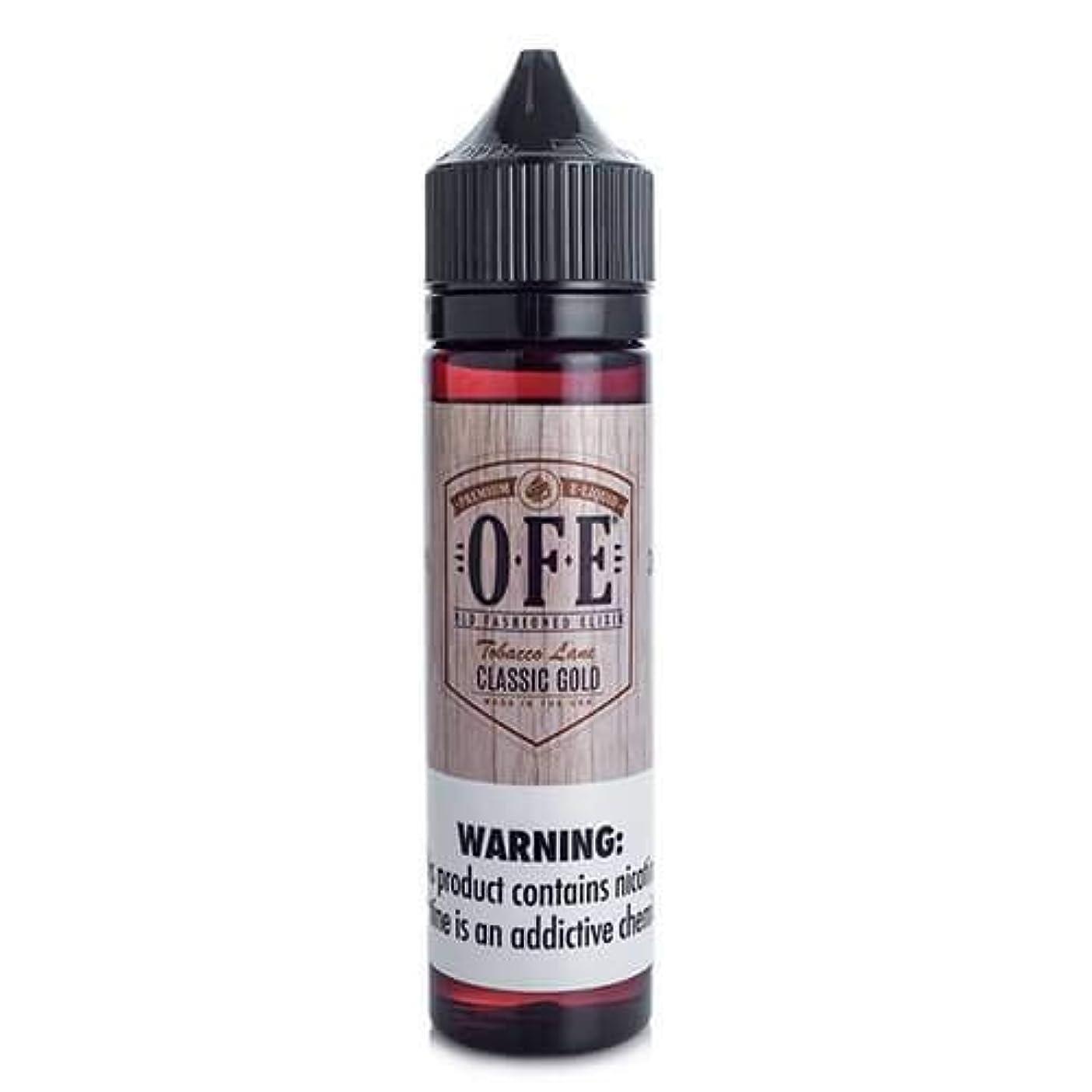 何でも日の出施し大人気 OFE (OLD FASHIONED ELIXIR) Vape 電子タバコ リキッド USA産 VapeHub.JPオリジナルセット (CLASSIC GOLD, 60ml)