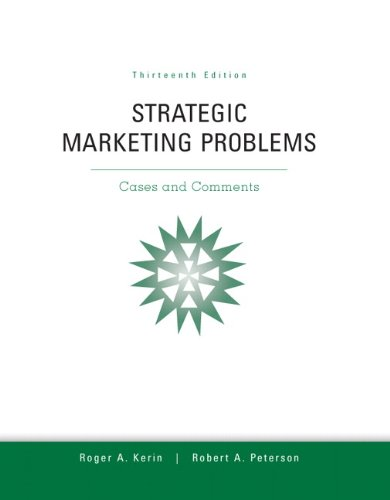Download Strategic Marketing Problems (13th Edition) 0132747251