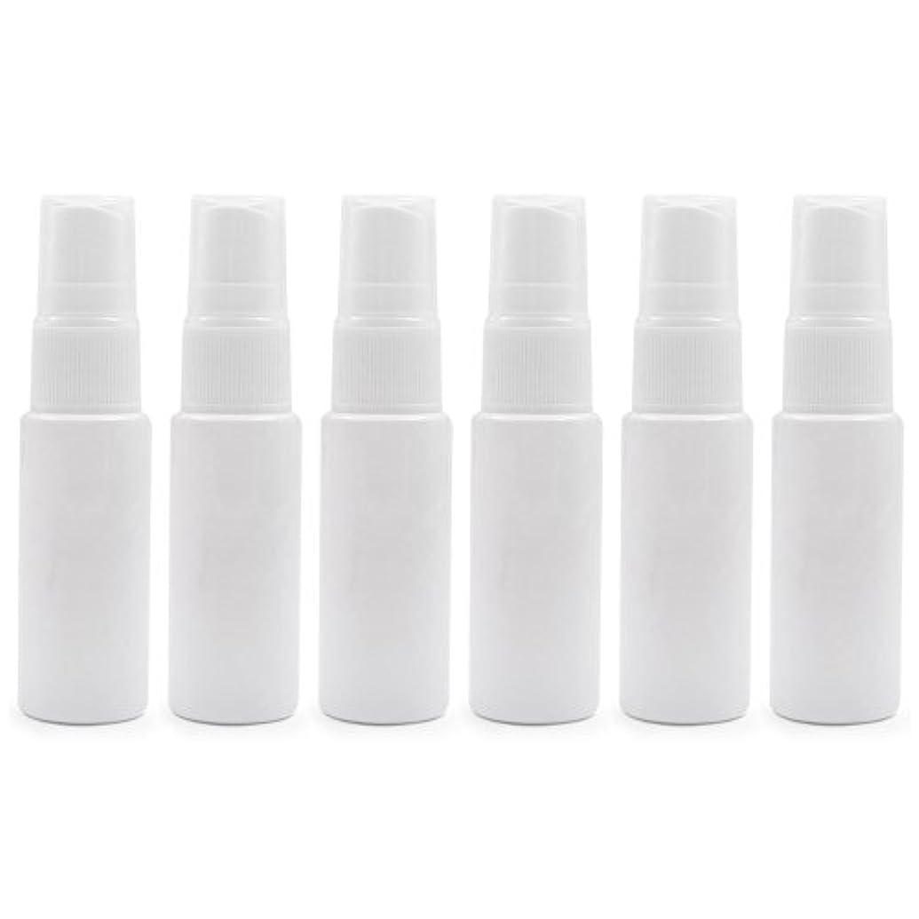 巨大アウトドア解き明かす6 PCS透明プラスチックスプレーボトル トラベル クリーニング エッセンシャルオイル うがい薬 香水(10ml 20ml)用ポータブルアトマイザー BPAフリー - ホワイト - 10 ml