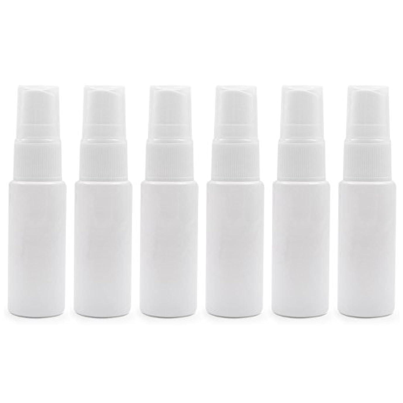 終わりクーポン活発6 PCS Aspire透明プラスチックスプレーボトル 旅行 クリーニング エッセンシャルオイル マウスウォッシュ 香水(10ml 20ml)のための携帯用詰め替え可能な香水瓶スプレー - ホワイト - 10 ml